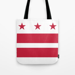 Washington D.C.: Washington D.C. Flag Tote Bag