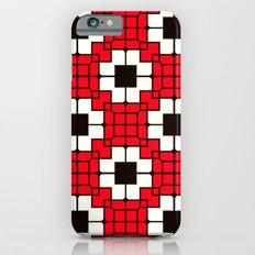 Retro Mosaic Red & Black Slim Case iPhone 6s