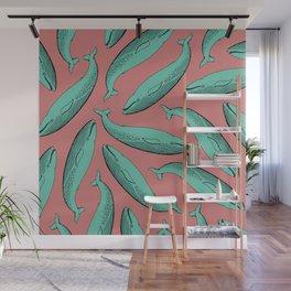 calm whale pattern Wall Mural