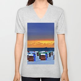 BEFORE THE STORM on the Baltic Sea Unisex V-Neck