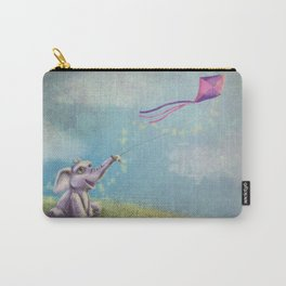 Baby Elephant Flying a Kite Carry-All Pouch