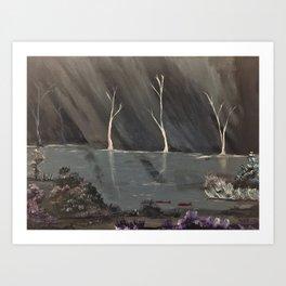 Underwater cave Art Print