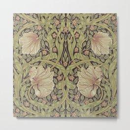 William Morris Pimpernel Art Nouveau Floral Pattern Metal Print