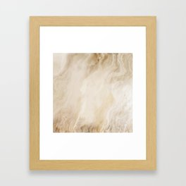 Brown Turquiose Marble texture Framed Art Print