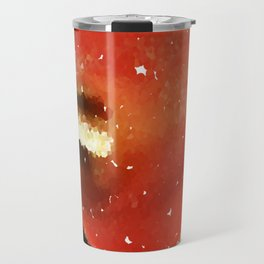Pixilated Water Flower Travel Mug