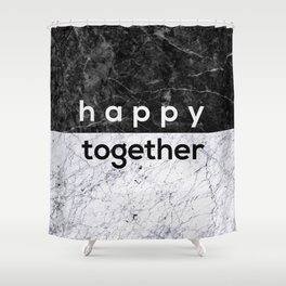 Happy Together Couples Quote Shower Curtain