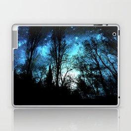 Black Trees Deep Teal SPACE Laptop & iPad Skin