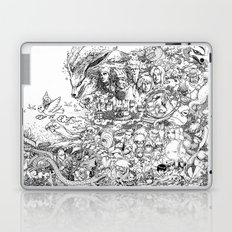 Naruto characters doodle Laptop & iPad Skin