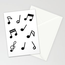 Musical Note Pattern Stationery Cards