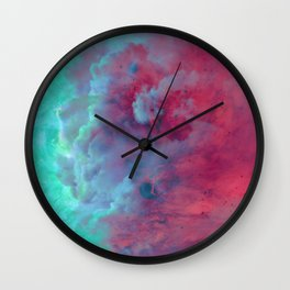 Mèduse Rouge Wall Clock
