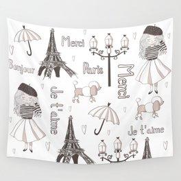 Paris Girl Wall Tapestry