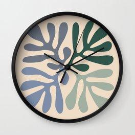 Matisse cutouts abstract drawing, Wall Clock