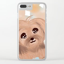 Smiling Yorkie Clear iPhone Case