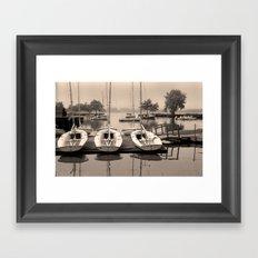 Charles Boats Framed Art Print