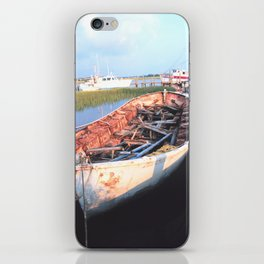 Aged Row Boat iPhone Skin