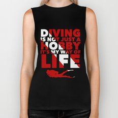 Scuba diving is my way of life Biker Tank