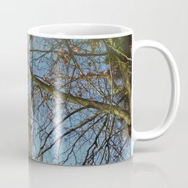 Old Tower And Leafless Branches Coffee Mug