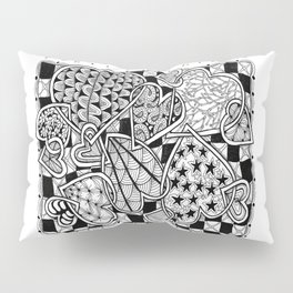 Zentangle Friends Come in All Sizes and Shapes Pillow Sham