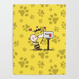 Snoopy Kiss SMAK Poster
