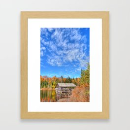 A Cabin in the Hills Framed Art Print