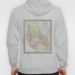 Vintage Map of The Western United States (1853) Hoody