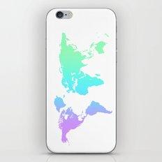 Ocean Gradient World Map iPhone & iPod Skin