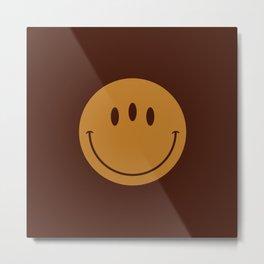 3rd Eye Smiley Face Metal Print