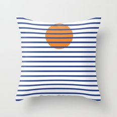 Sunshine Sea Throw Pillow