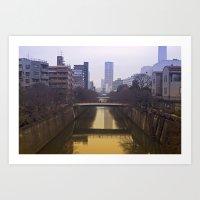 Lonely Tokyo Art Print
