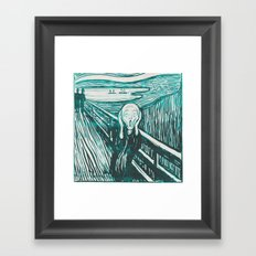 The Scream's Haze (light blue) Framed Art Print