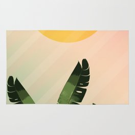 Sunny heliconia Rug