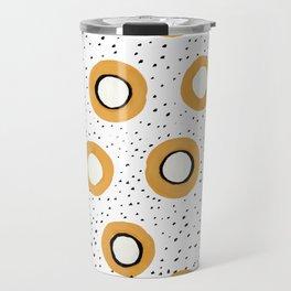 yellow circles Travel Mug