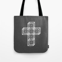 cross Tote Bags featuring Cross by Dizzy Moments