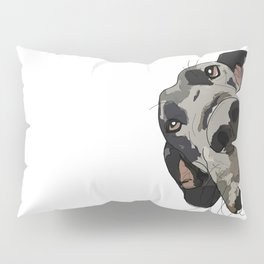 Great Dane dog in your face Pillow Sham