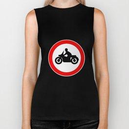 Motorcycle Round Traffic Sign Biker Tank