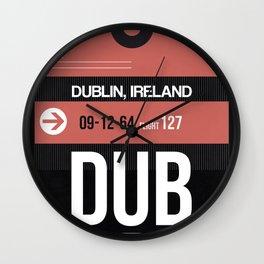 DUB Dublin Luggage Tag 2 Wall Clock