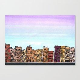 New York Purple Sky Canvas Print