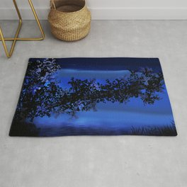 Dusk by the water Rug