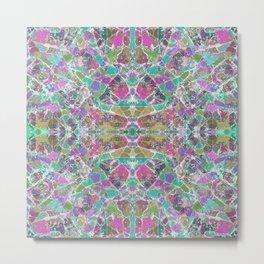 Multi-coloured Mandala Kaleidoscope 728 Metal Print