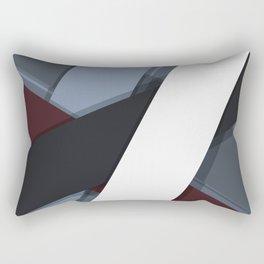 Flat Abstract Modern Material Design Vector Business Dark Foggy Forest  Rectangular Pillow