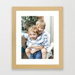 Beckham and luca spring 2019 Framed Art Print