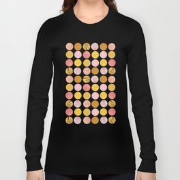 Pink and Gold Long Sleeve T-shirt