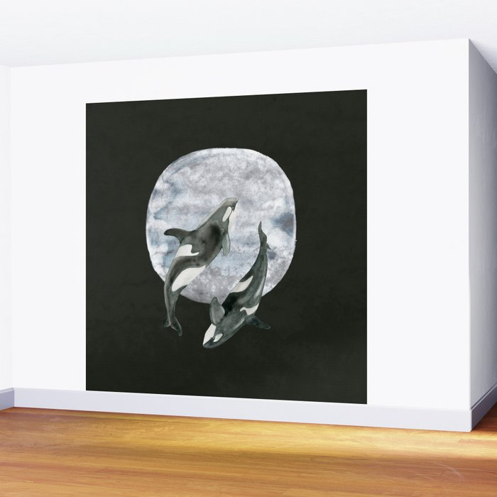Orcas Moon Dance Wall Mural By Jsquarepresents Society6