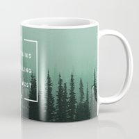 trees Mugs featuring The Mountains are Calling by Zeke Tucker