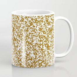 Tiny Spots - White and Golden Brown Coffee Mug