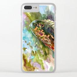 Oscar Fish, Aquarium Art, Cute fish artwork Clear iPhone Case