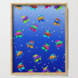 Bright Tropical Fish Serving Tray
