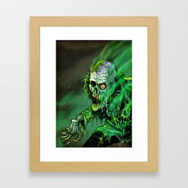 REANIMATED GREEN Framed Art Print