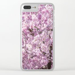 Cherry Blossom Spring Clear iPhone Case