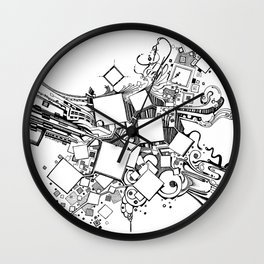 Number One Box - Pen & Ink Illustration Wall Clock